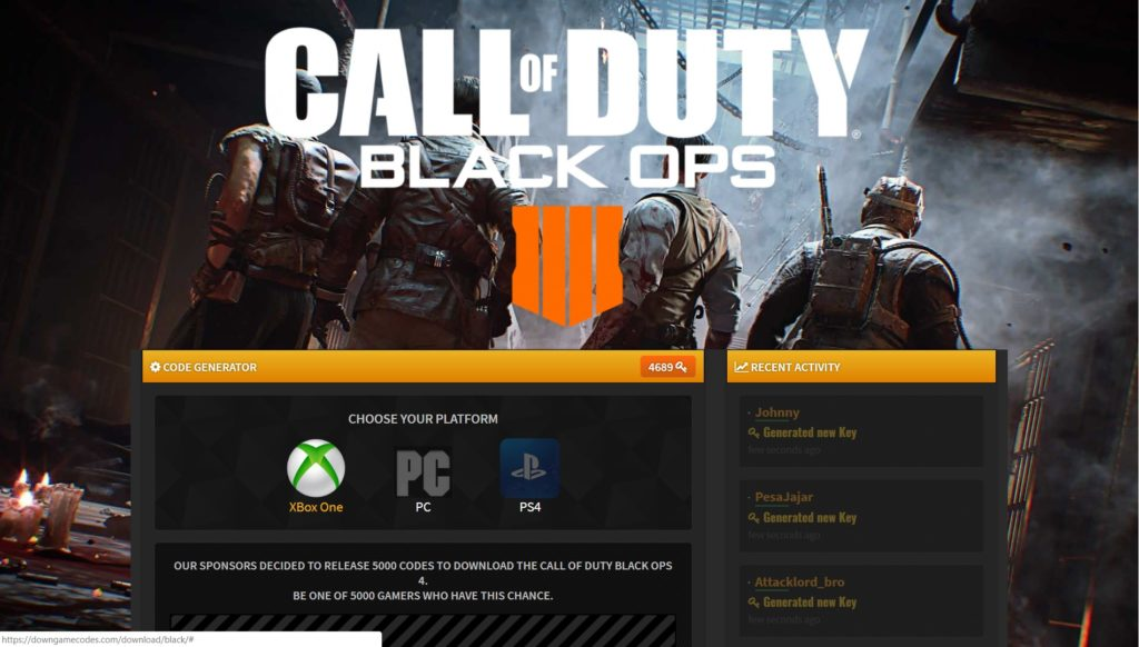 Call Of Duty Black Ops 4 Redeem Code Generator Downgamecodes