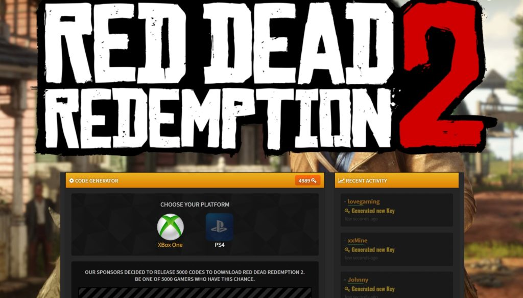 Red Dead Redemption 2 Redeem Code Download - DownGameCodes